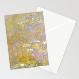Sea-Roses (Yellow Nirwana) by Claude Monet Stationery Cards