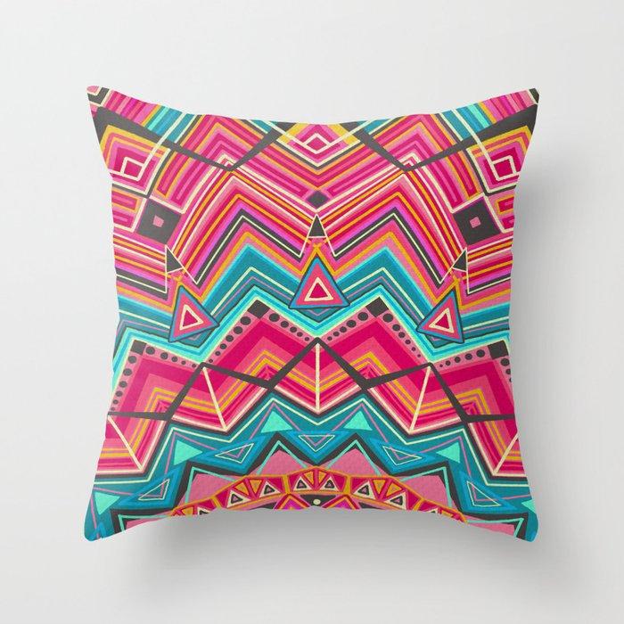 picchu pink Throw Pillow