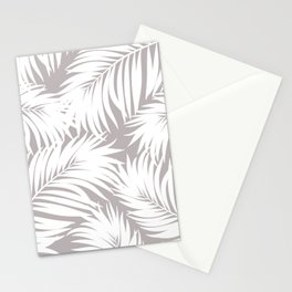 Palm Tree Fronds White on Soft Grey Hawaii Tropical Décor Stationery Cards