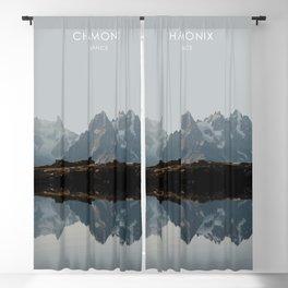 Chamonix, France Travel Artwork Blackout Curtain