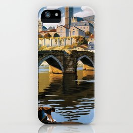 Limoges, French Travel Poster iPhone Case