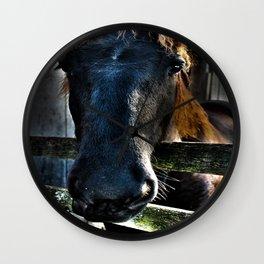 Horse in Repose Wall Clock