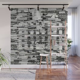 The System Affects The Information That Flows Through It (P/D3 Glitch Collage Studies) Wall Mural