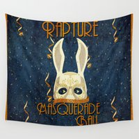 bioshock Wall Tapestries featuring Rapture Masquerade Ball 1959 by sgrunfo