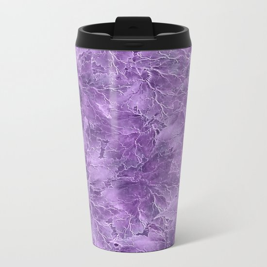 Frozen Leaves 15 Metal Travel Mug