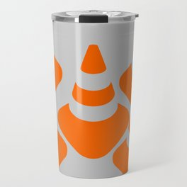 traffic  road cone safety pylon Whitc hat marker Travel Mug