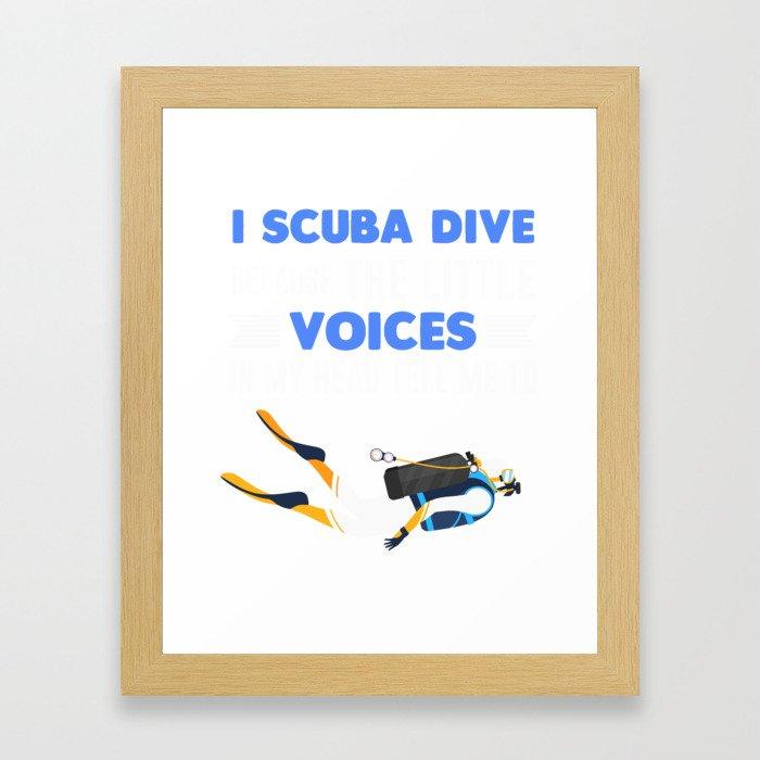Scuba Diving Costume. Gift Ideas. Framed Art Print
