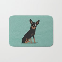 Min Pin - Cute Dog Series Bath Mat
