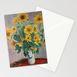 Claude Monet Bouquet Of Sunflowers 1881 Stationery Cards