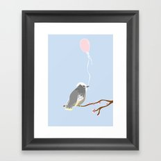 The birthday bird Framed Art Print