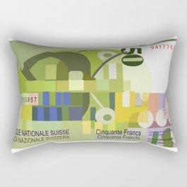 50 Swiss Francs Note Bill Rectangular Pillow