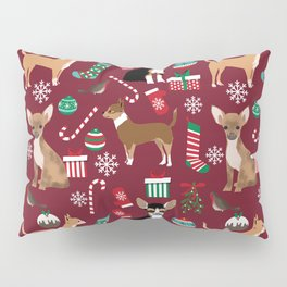Chihuahua christmas presents dog breed stockings candy canes mittens Pillow Sham