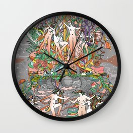 Dance of the Maypole Wall Clock