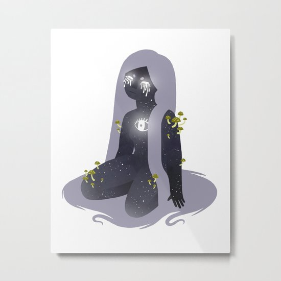Space Girl 11 Metal Print