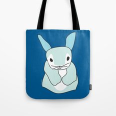 Blue Bunny Rabbit Tote Bag