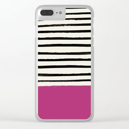 Raspberry x Stripes Clear iPhone Case
