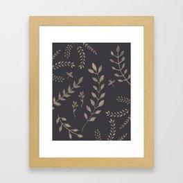 Light Sepia Leaves Pattern #1 #drawing #decor #art #society6 Framed Art Print