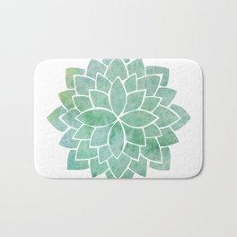 Green Mandala Bath Mat