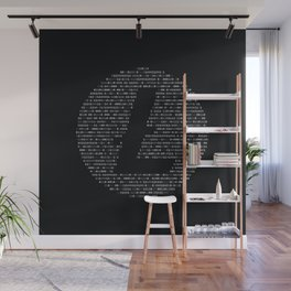 Litecoin Binary Wall Mural