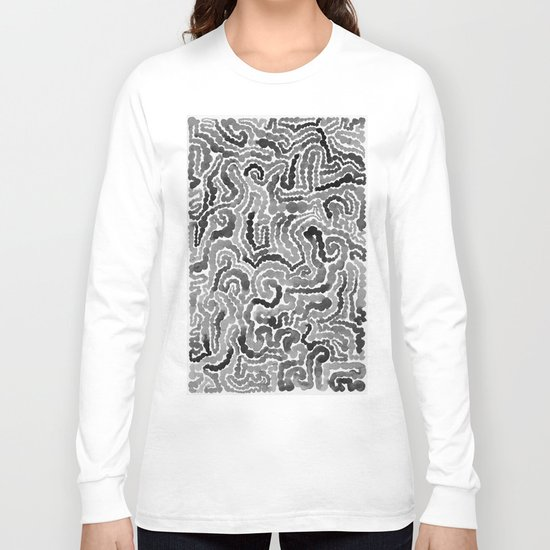 Gray Painting Long Sleeve T-shirt