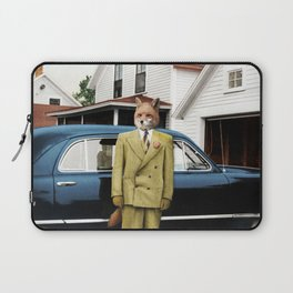 Mr. Fox posing with his new car Laptop Sleeve