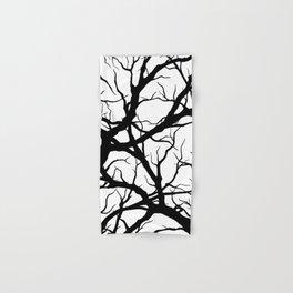 Black n White branche Hand & Bath Towel