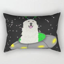 UFO Great Pyrenees  Rectangular Pillow