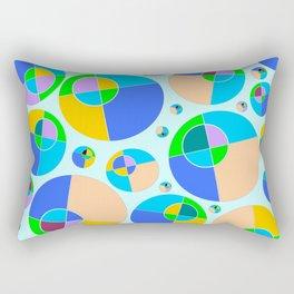 Bubble blue & orange Rectangular Pillow