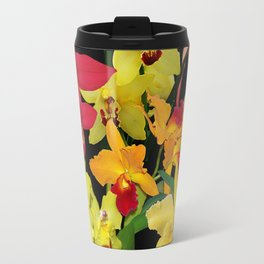 Orchids - Hot Colors! Travel Mug