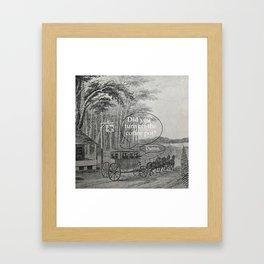 Memory Problems Framed Art Print