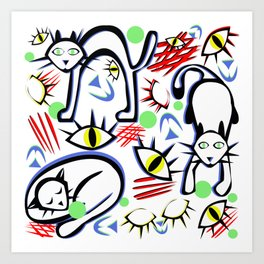 Cats Eyes by Lorloves Design Art Print