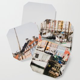 The Row | City Photography of Boats and Colorful Houses in Nyhavn Copenhagen Denmark Europe Coaster