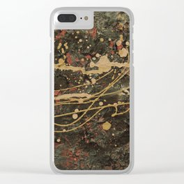 Universe Splatter Clear iPhone Case