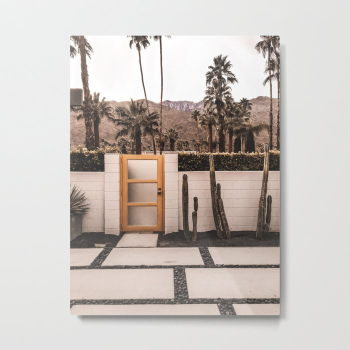 Palm Springs House Metal Print