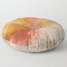 Modern contemporary Yellow Orange Abstract Floor Pillow