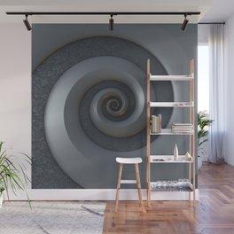 Gray 3-D Spiral Wall Mural