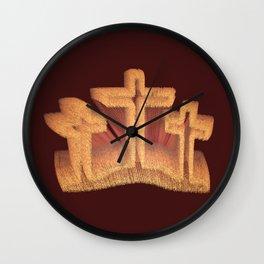 Three Crosses at Calvary Wall Clock