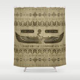 Egyptian Goddess Isis Ornament Shower Curtain