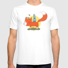 foxy friends. Mens Fitted Tee White SMALL