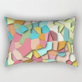 mosaic chaos Rectangular Pillow