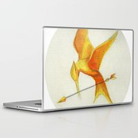 mockingjay Laptop & iPad Skins featuring Mockingjay THGames by Blanca MonQnill Sole
