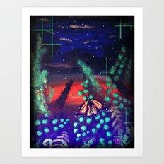 A Monarch Night Art Print