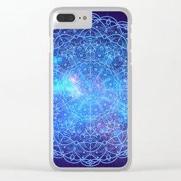 nebula mandala Clear iPhone Case