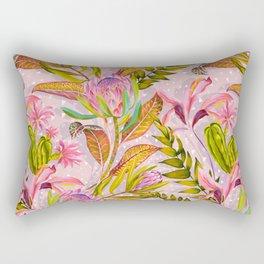 Botanical love pattern Rectangular Pillow
