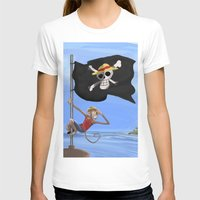 luffy T-shirts featuring Monkey D Luffy by Laércio Messias