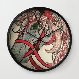 HORSING AROUND Wall Clock