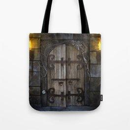 Gothic Spooky Door Tote Bag