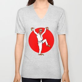 Sloth Karate Unisex V-Neck