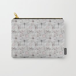 Dragonflies on grey. Carry-All Pouch
