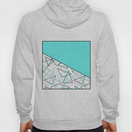 Abstract turquoise combo pattern . Hoody